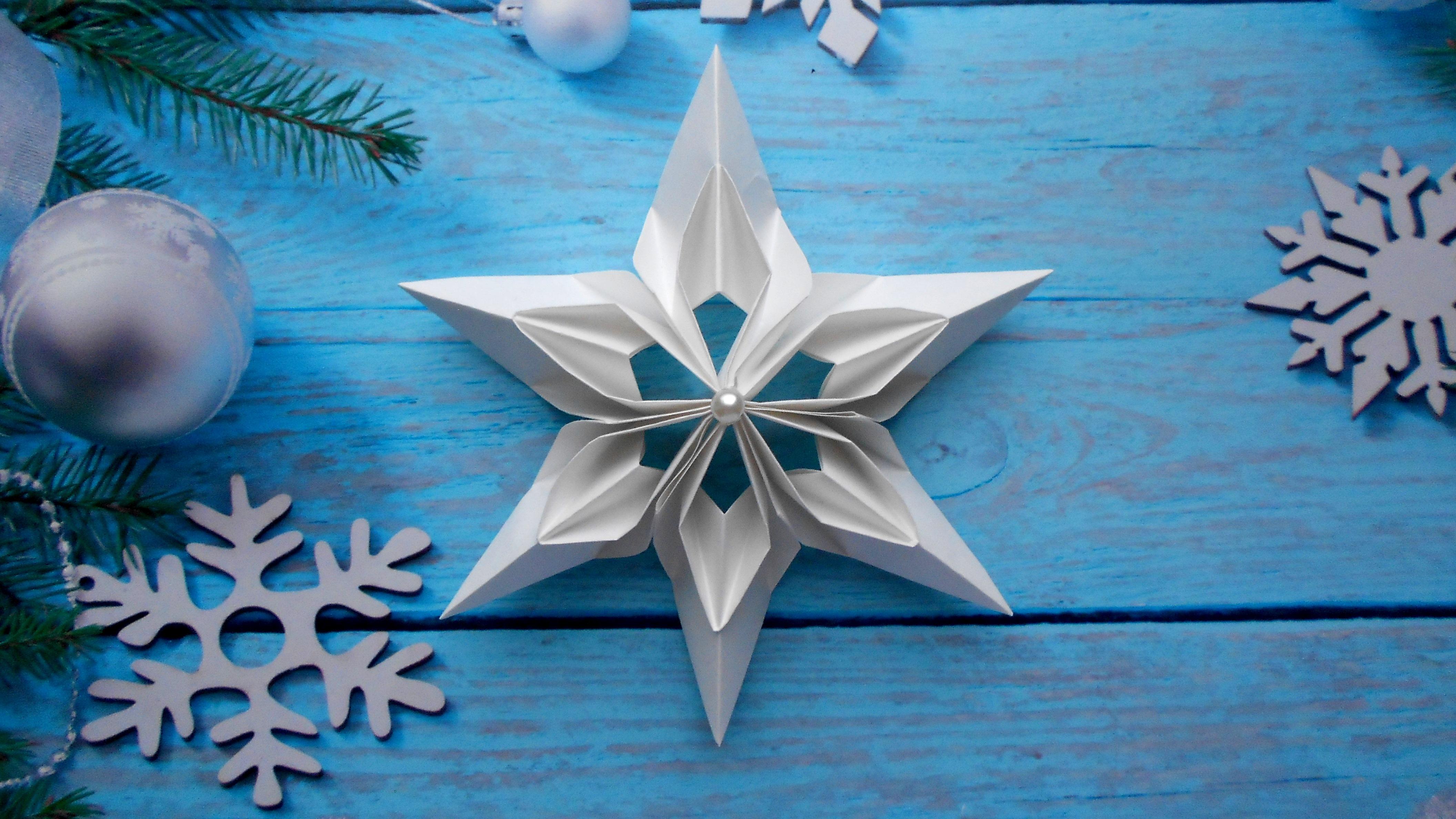 Как сделать снежинки оригами на новый год фото 623
