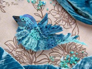 Броши Райские птицы от Севастьяновой Юлии