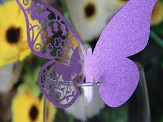 Рассадочная карточка бабочка 3