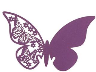 Рассадочная карточка бабочка 5