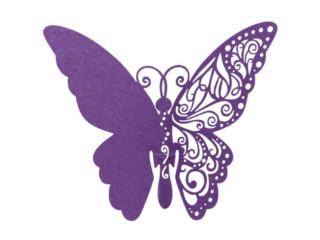 Рассадочная карточка бабочка 6