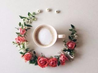 кофе и цветы 2
