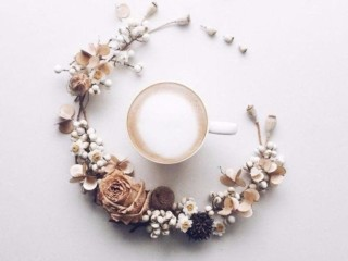 кофе и цветы 5