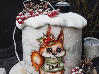 зимний торт 2