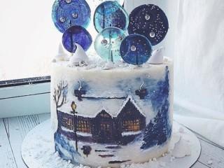 зимний торт 5