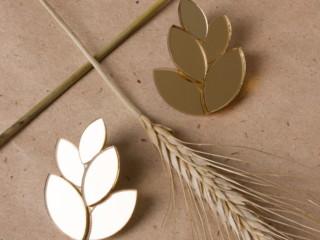 серьги листья 2