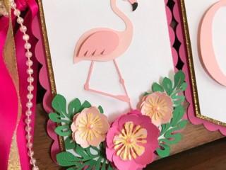 шаблон фламинго 3