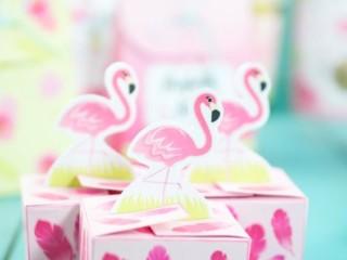 шаблон фламинго