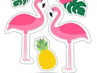 шаблон фламинго 4