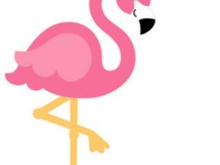 шаблон фламинго 6