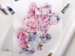 рисунок цветы 3