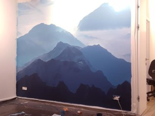 пейзаж на стене 4